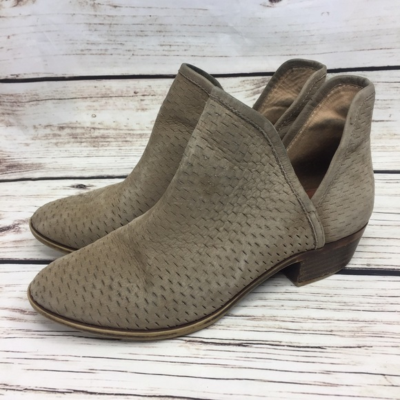 8a255d6f8 Lucky Brand Shoes - Lucky Brand Baley Perforated Ankle Bootie In Sand